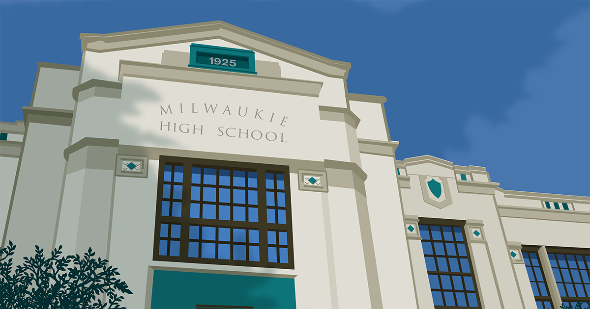 Milwaukie High School illustration
